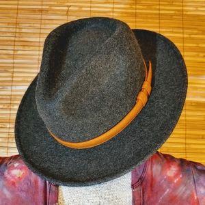 RVCA Gray Wool Felt Fedora